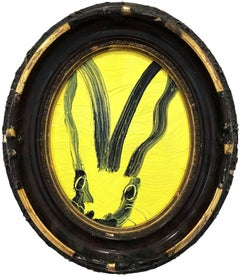 Untitled (Oval Bunny on Light Yellow)