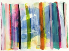 """""""History in Full Color (Summer)"""" Contemporary Mixed Media Painting on Paper"""