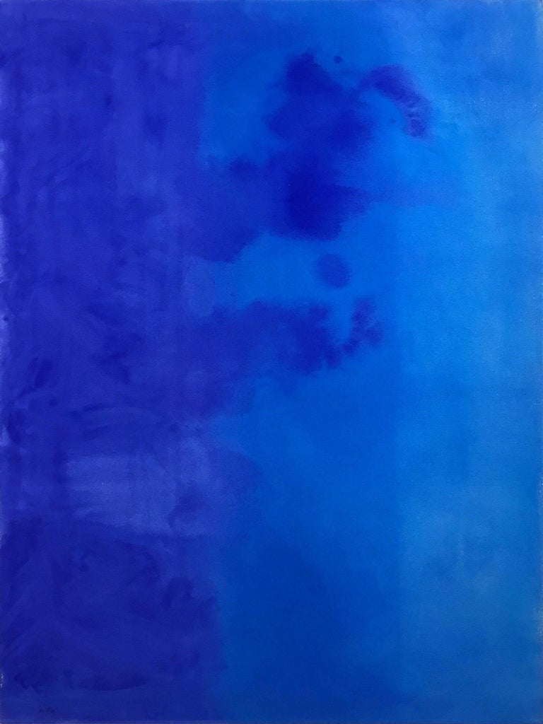 Robert Gregory Phillips Abstract Painting - Deep Blue Soft Blue