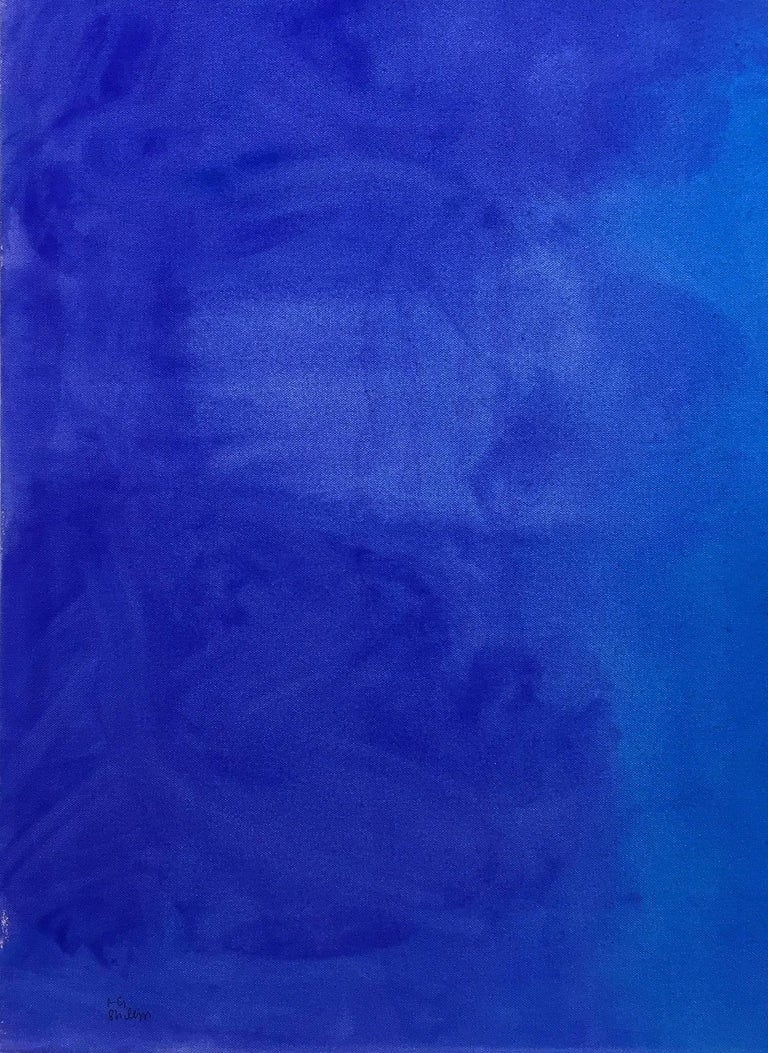 Deep Blue Soft Blue - Painting by Robert Gregory Phillips