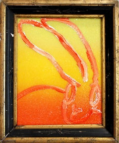 Untitled (Diamond Dust Bunny on Hot Orange and Yellow)