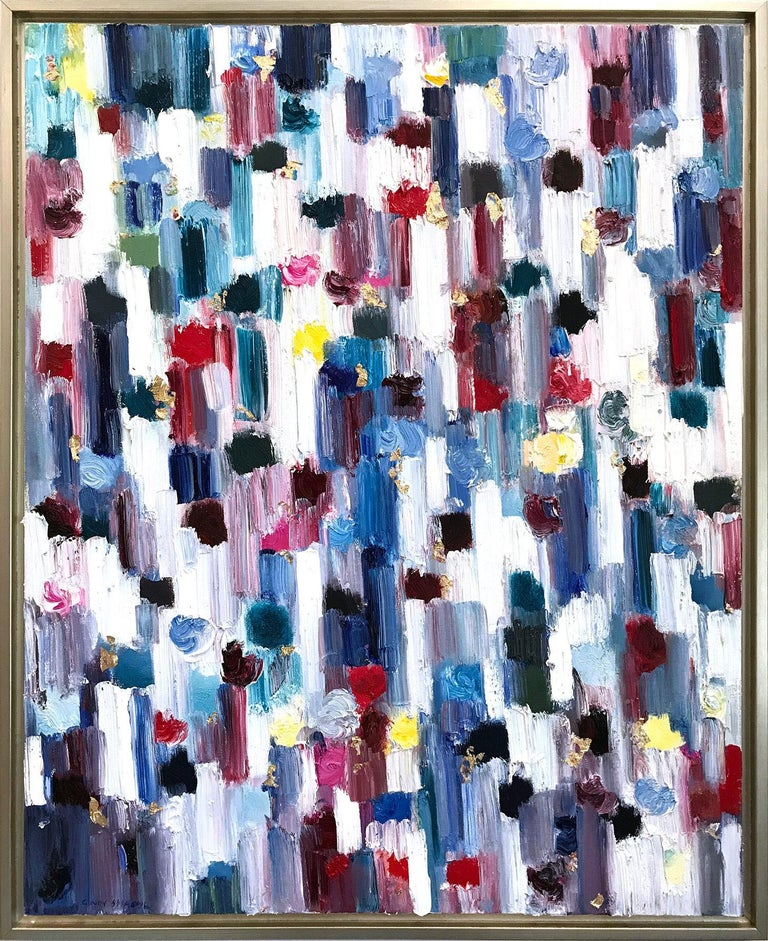 Cindy Shaoul Abstract Painting - Dripping Dots, Regent's Park, London