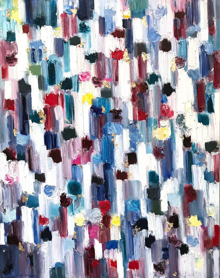 Dripping Dots, Regent's Park, London - Painting by Cindy Shaoul