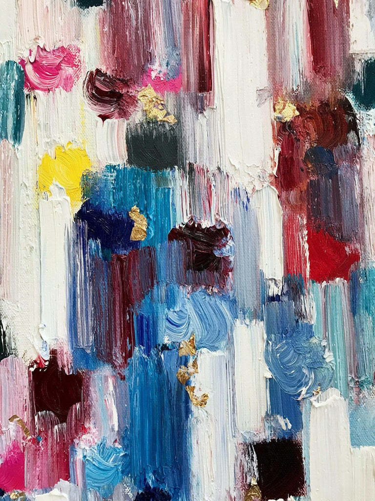 Dripping Dots, Regent's Park, London - Contemporary Painting by Cindy Shaoul