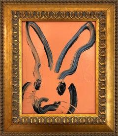 Untitled (Bunny on Hot Orange)