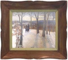 Snow Scene with Figures