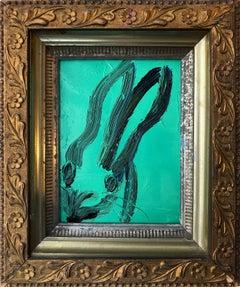 Untitled (Bunny on Cadet Turquoise)