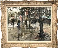 Romantic Paris Street Scene