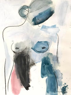 Grace and Heart, Modern Nude on Paper
