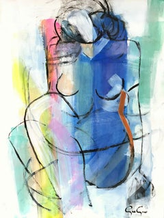 Color Kissed, Modern Nude on Paper