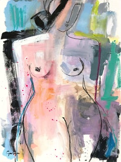 Bold and Beautiful, Modern Nude on Paper