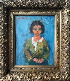 Portrait of a Woman, Impressionistic Oil Painting