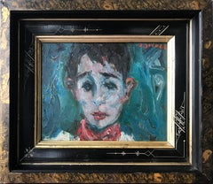 Portrait of a Young Man, Impressionistic Oil Painting