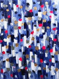 Dripping Dots, Marbella Spain, Colorful, Abstract, Oil Painting