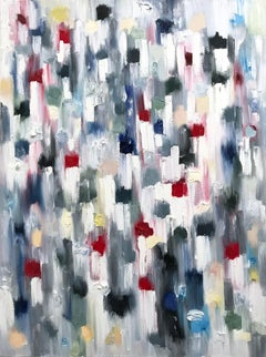 Dripping Dots, Capri, Colorful, Abstract, Oil Painting