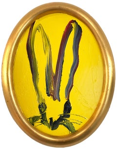 Untitled (Oval Bunny on Royal Yellow)