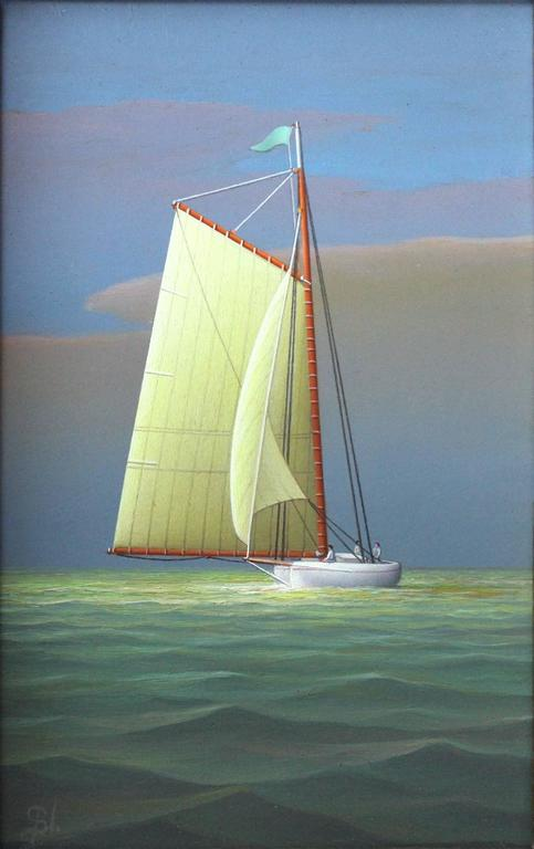 George Nemethy Sailing In The Afternoon For Sale At 1stdibs