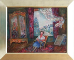 """Interior Scene of Woman in Paris"" Post-Impressionism Oil Painting on Canvas"