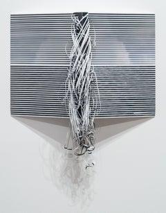Ben Buswell, Horizon No. 10, 2016, embellished Lambda photograph, black & white