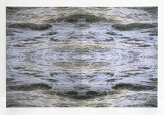 Ben Buswell, Untitled (Clatsop Spit Fold), 2018, hand-embellished Lambda prints