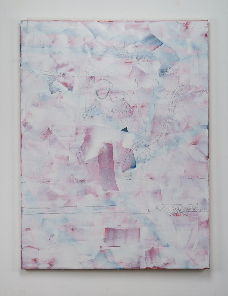 Jack Featherly, CLFRNA DRMNG*, 2017, oil and enamel on canvas, 62 x 47 inches