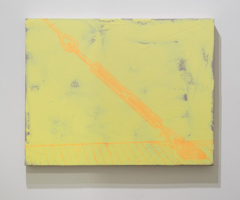 Jack Featherly, Context Collapse, 2016, oil paint and enamel on canvas
