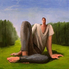 Giant In A Field, oil on linen