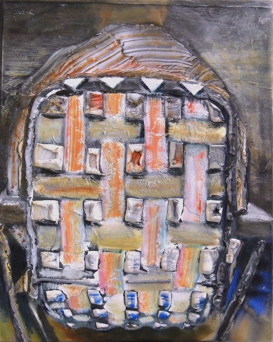 Fat Back - Contemporary Figurative/Abstract Oil Painting, texture, mixed media