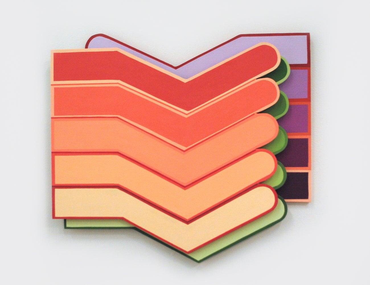 Ulna - Acrylic on Polyurethane Panel Geometric Hanging Sculpture