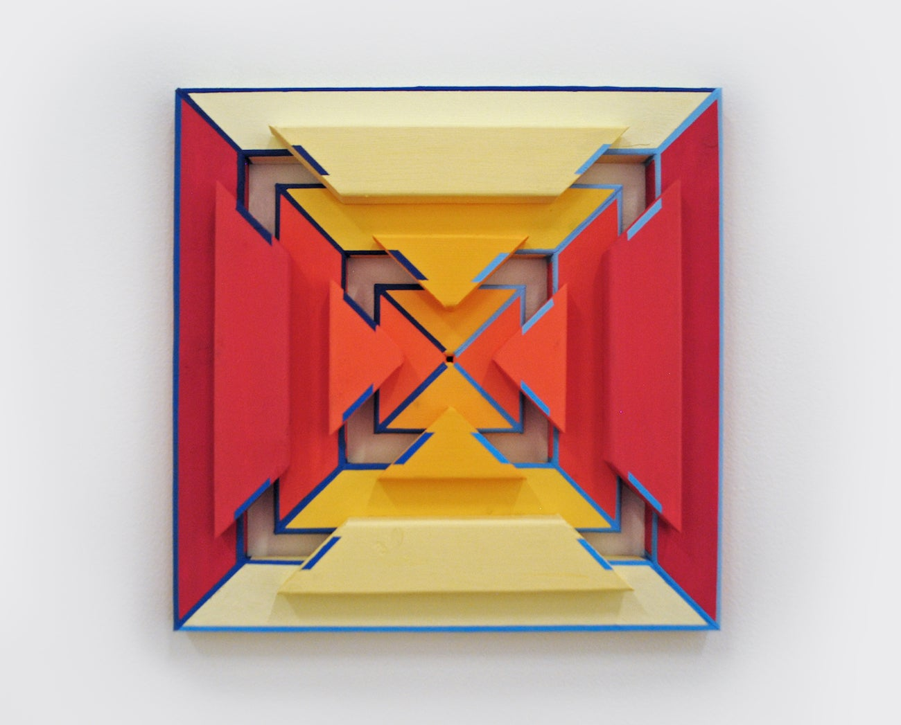 Staats - Acrylic on Wood Hanging Sculpture, Geometric Abstract