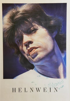 "Gottfried Helnwein ""Mick Jagger"" Poster originally signed. Personal dedication."