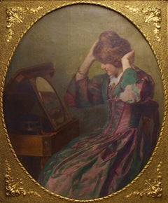 """A. Maurer """"Ready for the rendezvous"""" Large Oil painting Oil on canvas circa 1907"""