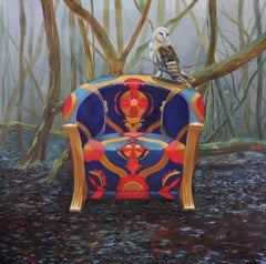 Winter Chair by Llael McDonald. Oil on linen.