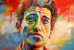 Bob Dylan by Jos Coufreur. Acrylic on canvas. Ready to hang.