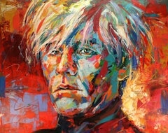 Andy Warhol by Jos Coufreur. Acrylic on canvas. Ready to hang.