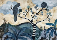 Where The Bong Trees Grow by Sally Browne. Gouache and Watercolour on Paper.