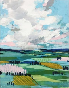 Pastures by Clair Bremner. Acrylic on canvas. Ready to hang.