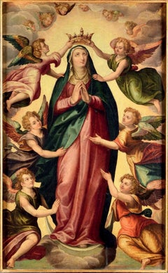 Immaculate Virgin Among The Angels