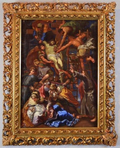 The Descent From The Cross - Roman Painter Of The Seventeenth Century