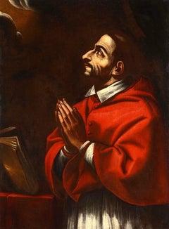 Saint Charles Borromeo - 17th Century - Lombardy school - Oil on canvas - Painti