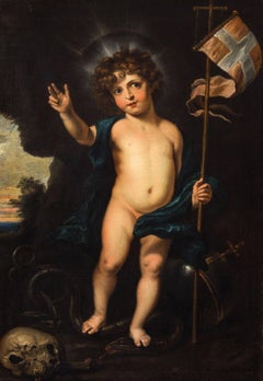 Christ Child as Salvator Mundi
