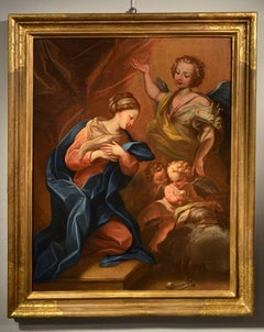 Annunciation  17th Century Paint Oil on  canvas Religious Old master Giordano