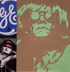 Sup.Ge - David Pompili Cardboard Pop Painting with Andy Warhol