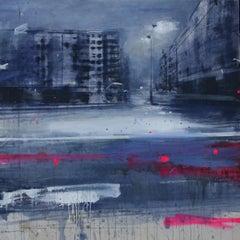 Lunga Oscurità - Daniele Cestari Landscape Painting on Canvas