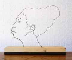 Nina Simone - Gavin Worth Iron Wire Figurative Sculpture