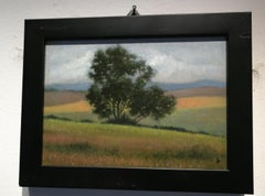 Landscape - Patrcia Glee Smith Oil Italian Farmhouse Landscape
