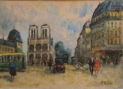 Paris Street Scene, Notre Dame