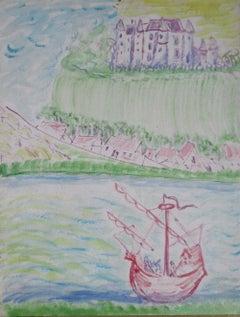Chagall-esque dream landscape