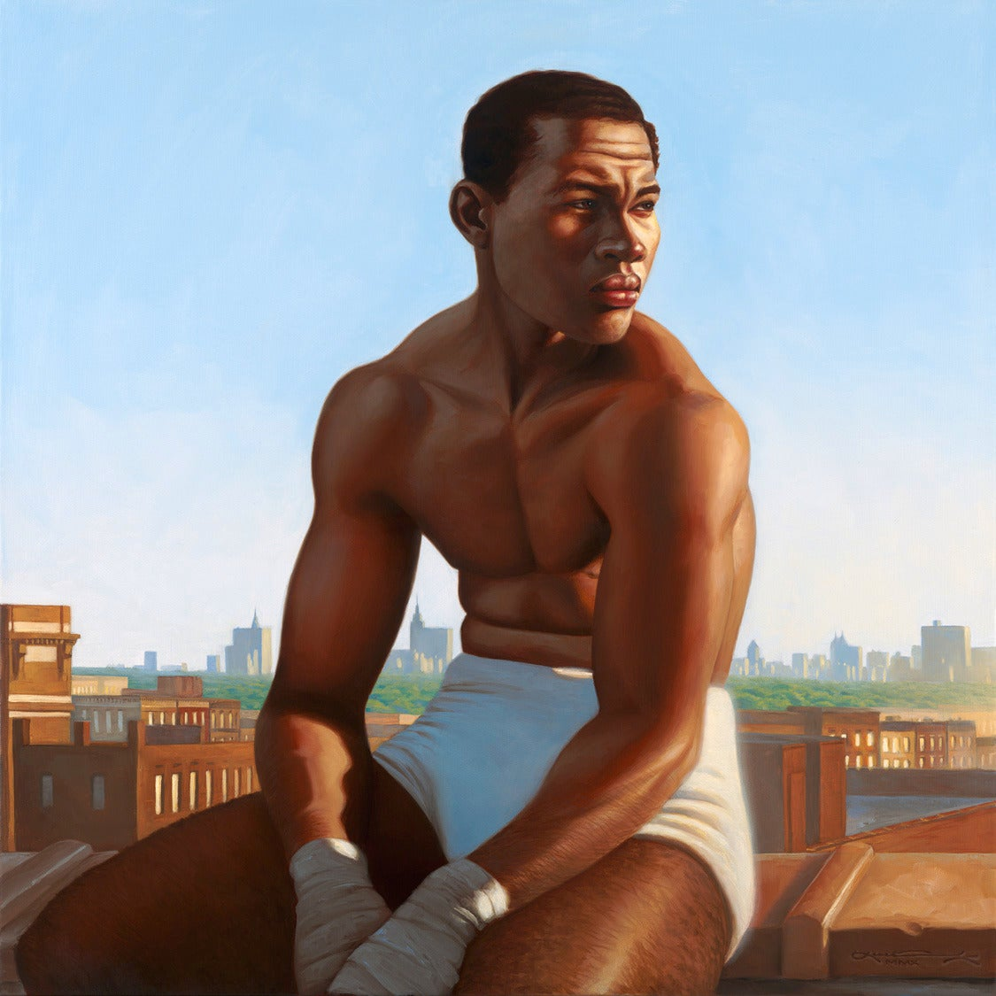 Kadir Nelson Joe Louis Barrow Painting At 1stdibs