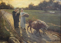 Maids on a Country Road